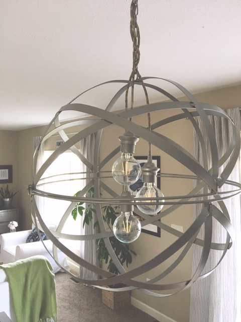 Diy orb chandelier part two final product reveal last week i left you with my painted but unfinished orb light this weekend gave me a chance to get down to business and finish my project aloadofball Images